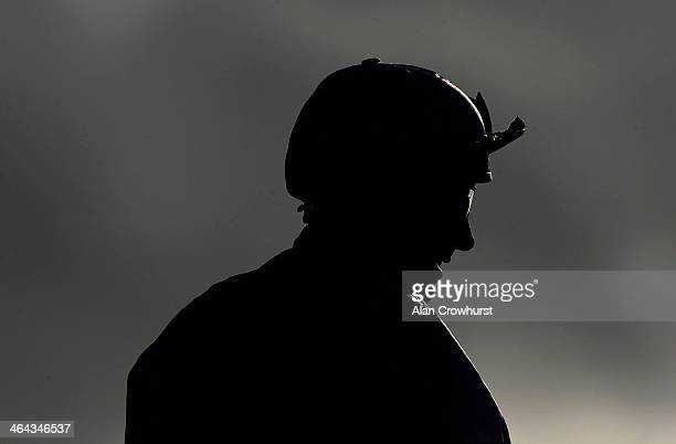 Frankie Dettori poses at Lingfield racecourse on January 22 2014 in Lingfield England