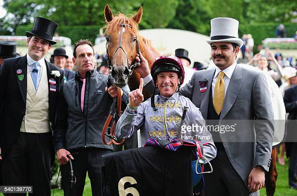 Frankie Dettori poses with Galileo Gold after winning the St James Palace Stakes during Day One of Royal Ascot 2016 at Ascot Racecourse on June 14...