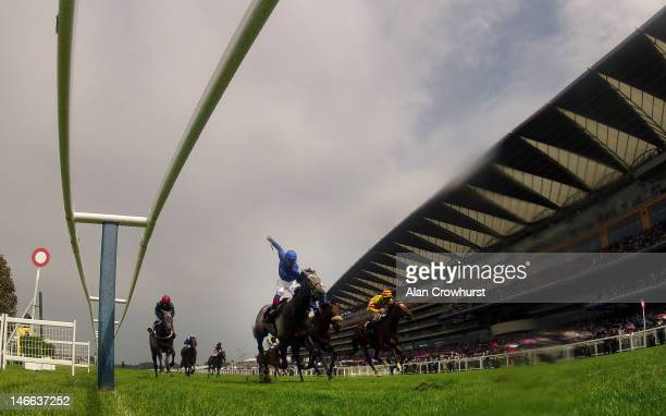Frankie Dettori riding Colour Vision win the Gold Cup during Ladies Day at Royal Ascot at Ascot racecourse on June 21 2012 in Ascot England