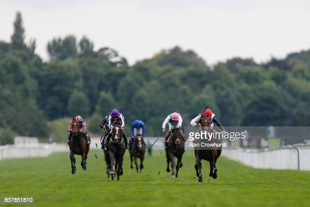 Frankie Dettori riding Cracksman easily win The Betway Great Voltigeur Stakes at York racecourse on August 23 2017 in York England