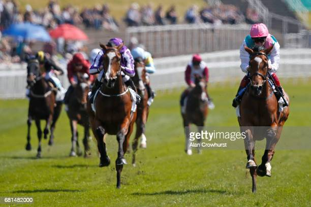 Frankie Dettori riding Enable win The Arkle Finance Cheshire Oaks at Chester Racecourse on May 10 2017 in Chester England