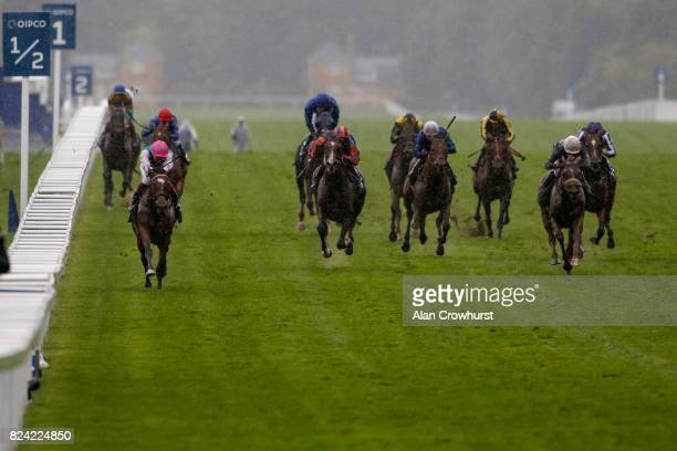 Frankie Dettori riding Enable win The King George VI And Queen Elizabeth Stakes at Ascot racecourse on July 29 2017 in Ascot England