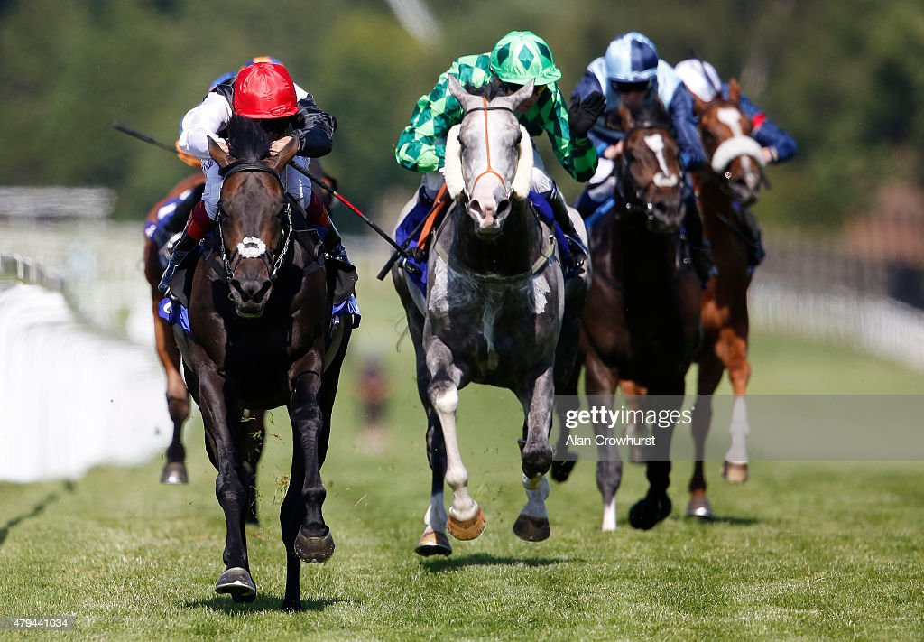 Frankie Dettori riding Golden Horn wins The Coral Eclipse at Sandown racecourse on July 04 2015 in Esher England