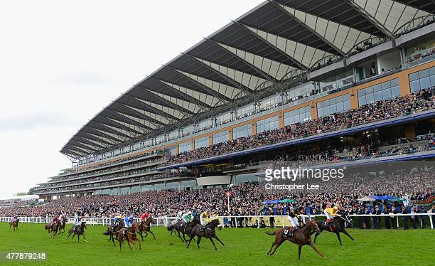 Frankie Dettori riding Undrafted celebrates winning The Diamond Jubilee Stakes during Day 5 of Royal Ascot at Ascot Racecourse on June 20 2015 in...