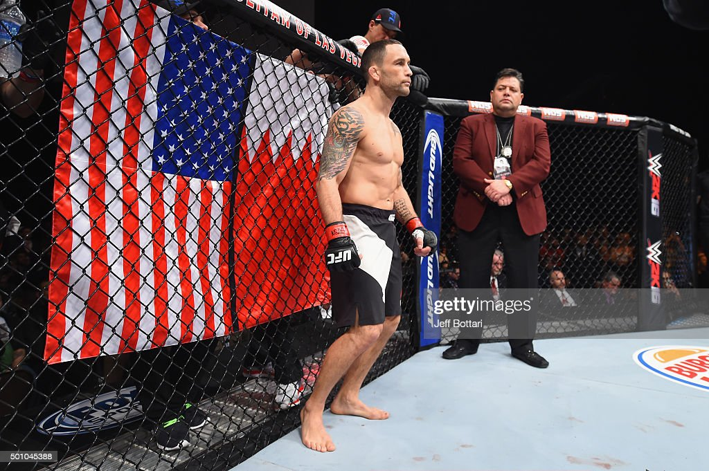 Frankie Edgar prepares to face Chad Mendes in their featherweight bout during the TUF Finale event inside The Chelsea at The Cosmopolitan of Las Vegas on December 11, 2015 in Las Vegas, Nevada.