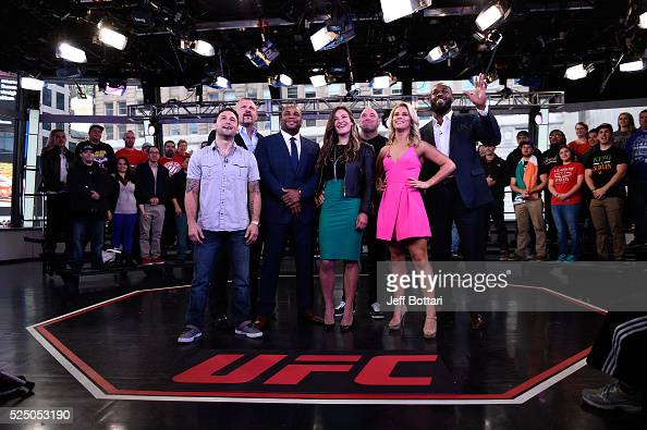 Frankie Edgar UFC Hall of Famer Chuck Liddell UFC light heavyweight champion Daniel Cormier UFC women's bantamweight champion Miesha Tate UFC...