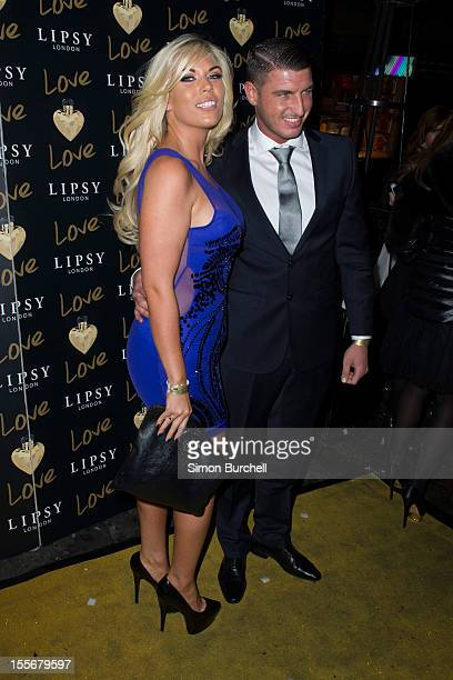 Frankie Essex and John Lyons attends the Lipsy London Love launch party at Gilgamesh on November 6 2012 in London England