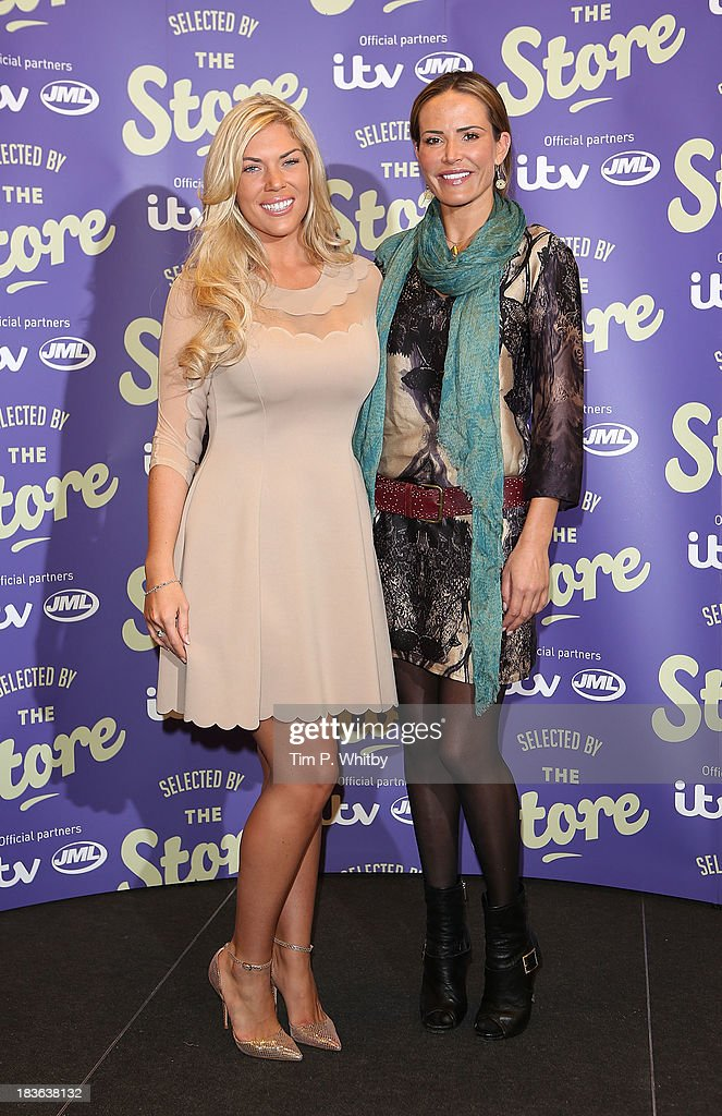 <a gi-track='captionPersonalityLinkClicked' href=/galleries/search?phrase=Frankie+Essex&family=editorial&specificpeople=7932355 ng-click='$event.stopPropagation()'>Frankie Essex</a> and <a gi-track='captionPersonalityLinkClicked' href=/galleries/search?phrase=Sophie+Anderton&family=editorial&specificpeople=202169 ng-click='$event.stopPropagation()'>Sophie Anderton</a> attends a photocall to launch new shopping channel 'The Store' at BAFTA on October 8, 2013 in London, England.