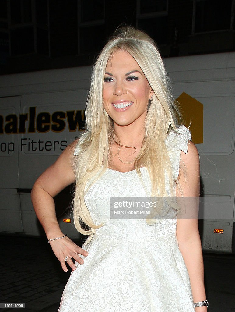 Frankie Essex at the Sugar Hut Brentwood on April 4, 2013 in London, England.