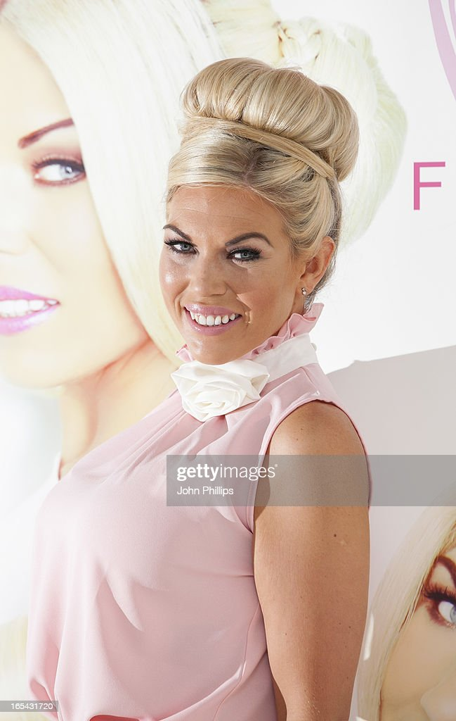 Frankie Essex attends a photocall to launch her own range of hair extensions at BFI IMAX on April 4, 2013 in London, England.