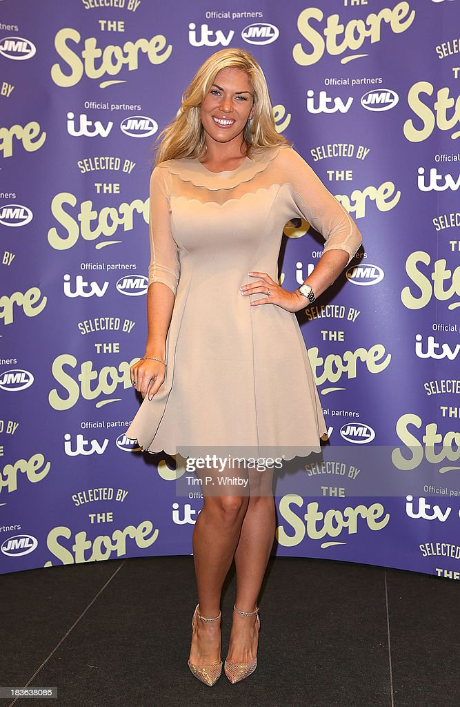 <a gi-track='captionPersonalityLinkClicked' href=/galleries/search?phrase=Frankie+Essex&family=editorial&specificpeople=7932355 ng-click='$event.stopPropagation()'>Frankie Essex</a> attends a photocall to launch new shopping channel 'The Store' at BAFTA on October 8, 2013 in London, England.