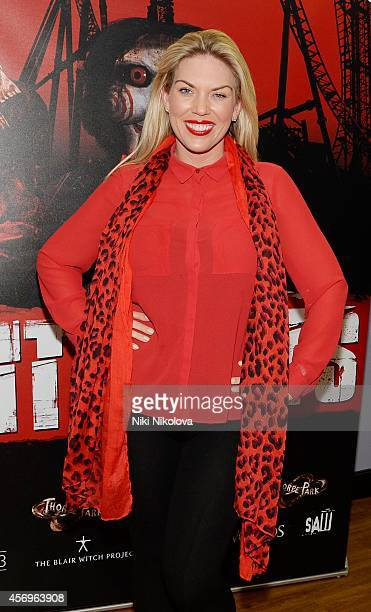 Frankie Essex attends Friday Night VIP Event held in at Thorpe Park on October 9 2014 in Chertsey England