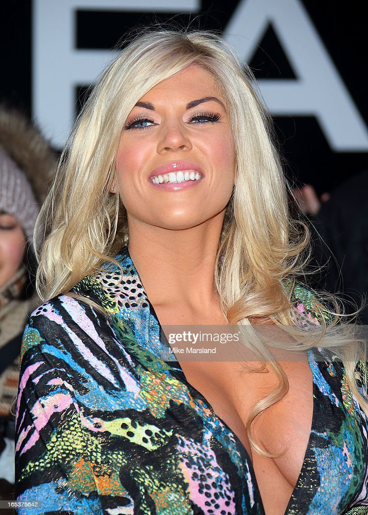Frankie Essex attends the UK Premiere of 'Olympus Has Fallen' at BFI IMAX on April 3, 2013 in London, England.