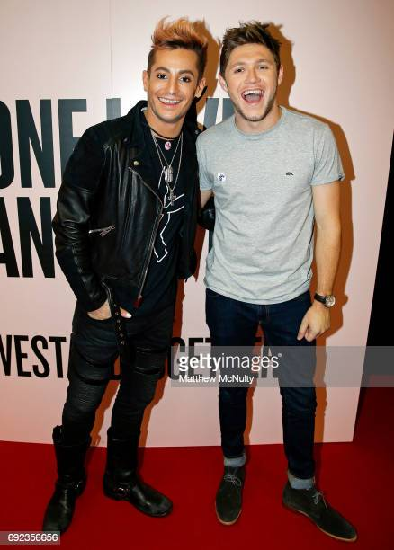Frankie Grande and Niall Horan during the One Love Manchester concert at Old Trafford Cricket Ground Cricket Club on June 4 2017 in Manchester England