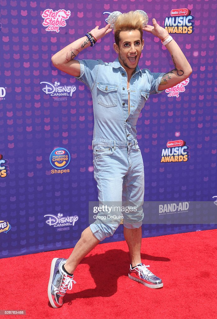 Frankie Grande arrives at the 2016 Radio Disney Music Awards at Microsoft Theater on April 30, 2016 in Los Angeles, California.