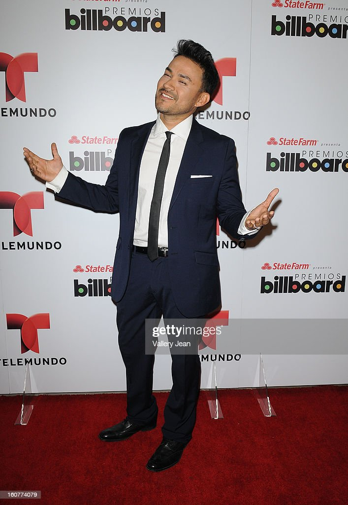 <a gi-track='captionPersonalityLinkClicked' href=/galleries/search?phrase=Frankie+J&family=editorial&specificpeople=213463 ng-click='$event.stopPropagation()'>Frankie J</a> attends Telemundo and Premios Billboard 2013 Press Conference at Gibson Miami Showroom on February 5, 2013 in Miami, Florida.