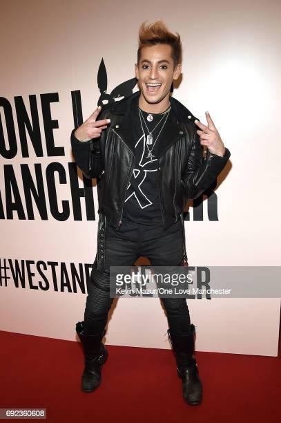 Frankie J Grande backstage during the One Love Manchester Benefit Concert at Old Trafford Cricket Ground on June 4 2017 in Manchester England