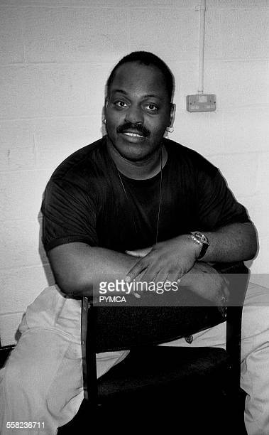 DJ Frankie Knuckles takes a break before his set at the Hacienda Manchester 1989