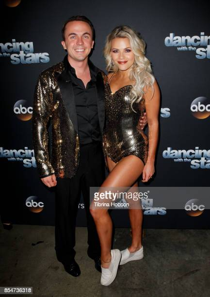 Frankie Muniz and Witney Carson attend 'Dancing With The Stars' season 25 taping at CBS Televison City on September 26 2017 in Los Angeles California