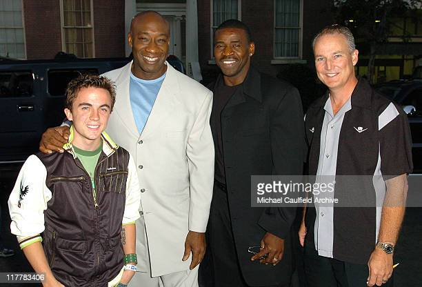 Frankie Muniz Michael Clarke Duncan Michael Irvin and Jim Taylor General Manager of Cadillac