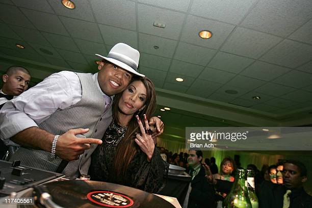 DJ Frankie Needles and Ivy Queen during The 7th Annual Latin GRAMMY Awards After Party Heineken at Sheraton Hotel NY in New York City New York United...