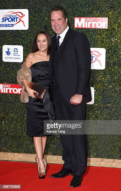 Frankie Poultney and David Seaman attend the Daily Mirror Pride Of Sport Awards at Grosvenor House on November 25 2015 in London United Kingdom
