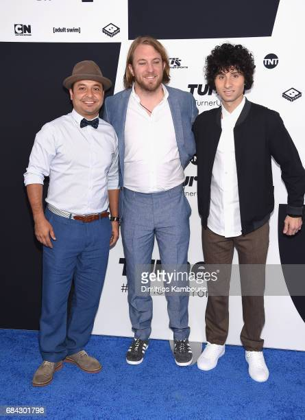 Frankie Quinones Cory Loykasek and Donny Divanian attend the Turner Upfront 2017 arrivals on the red carpet at The Theater at Madison Square Garden...