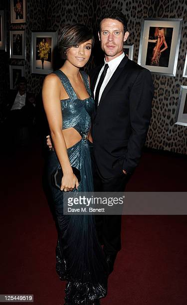 Frankie Sandford and Wayne Bridge attend an after party celebrating Roberto Cavalli's new Sloane Street boutique at Battersea Power Station on...