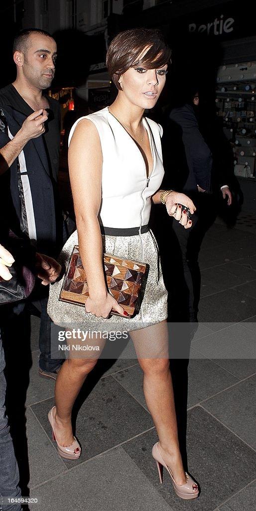Frankie Sandford leaving Amika Club on March 24, 2013 in London, England.