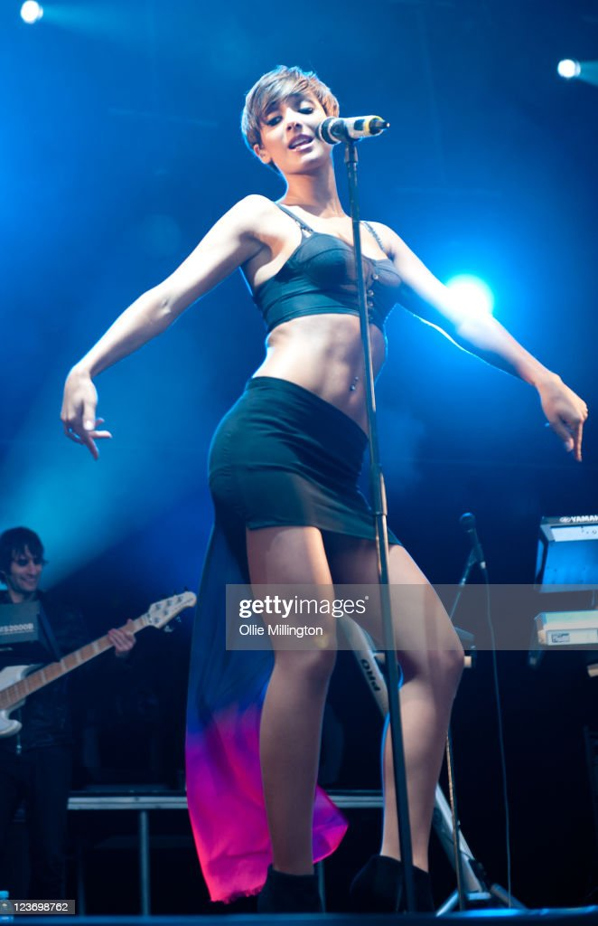 Frankie Sandford of The Saturdays performs on stage during day 1 of The Ultrasound Music Festival at Tamworth Castle on September 3 2011 in Tamworth...