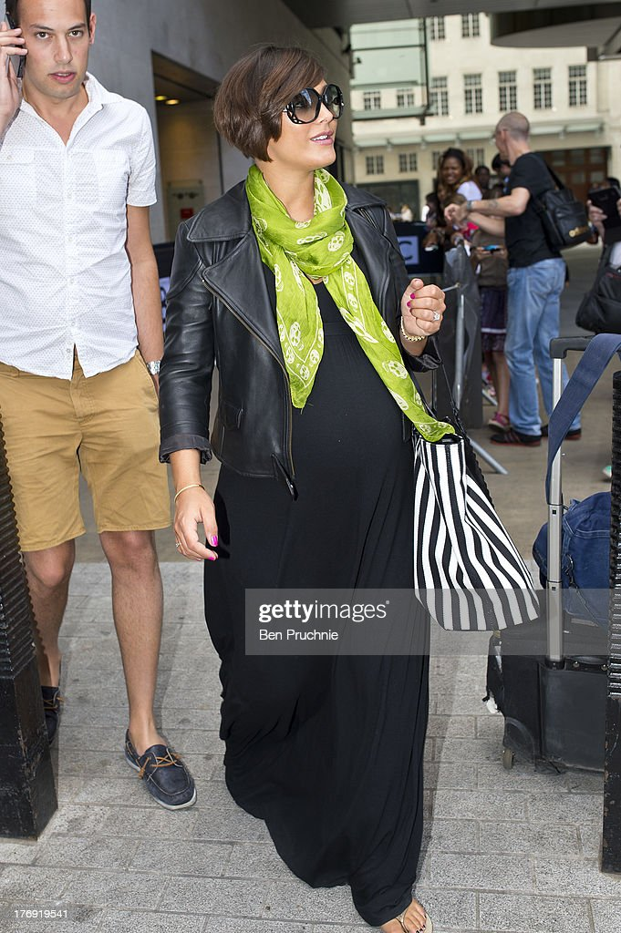 Frankie Sandford of The Saturdays sighted at BBC Radio 1 on August 19, 2013 in London, England.
