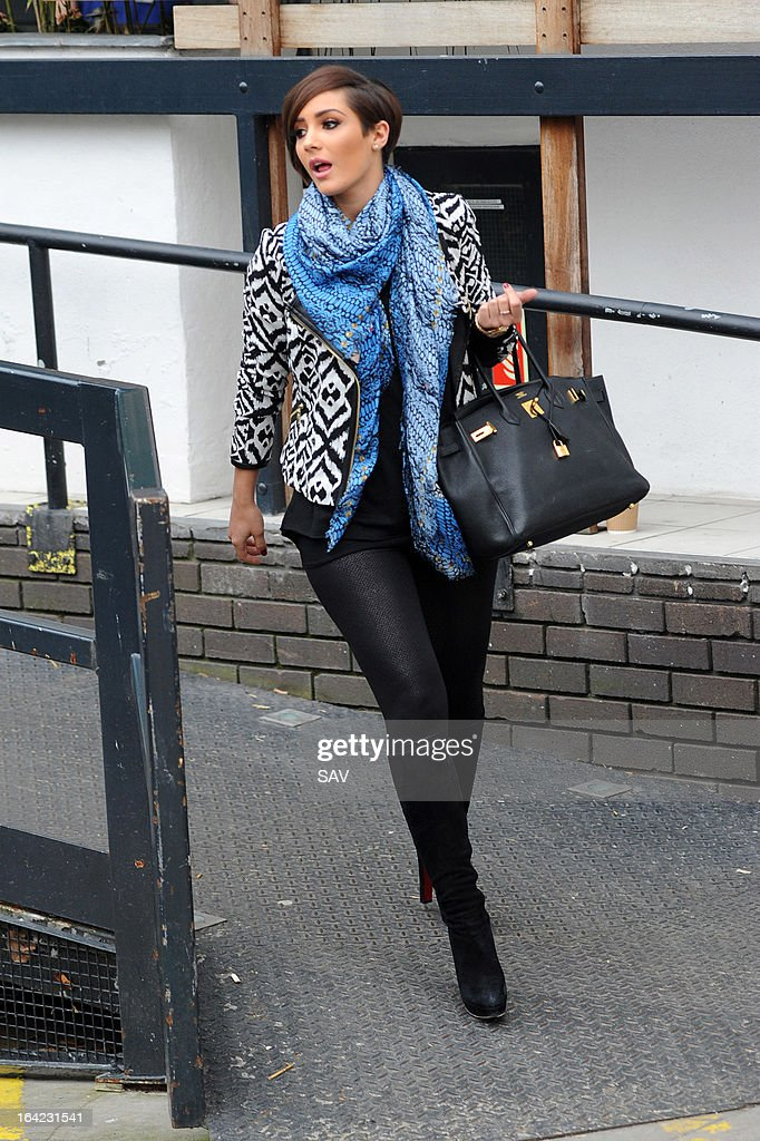 Frankie Sandford pictured leaving the ITV studios on March 21, 2013 in London, England.