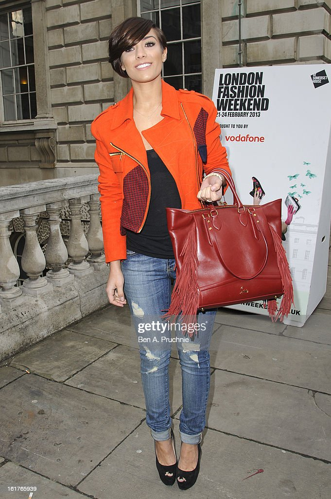 Frankie Sandford sighted at Somerset House during London Fashion Week F/W 2013 on February 15, 2013 in London, England.