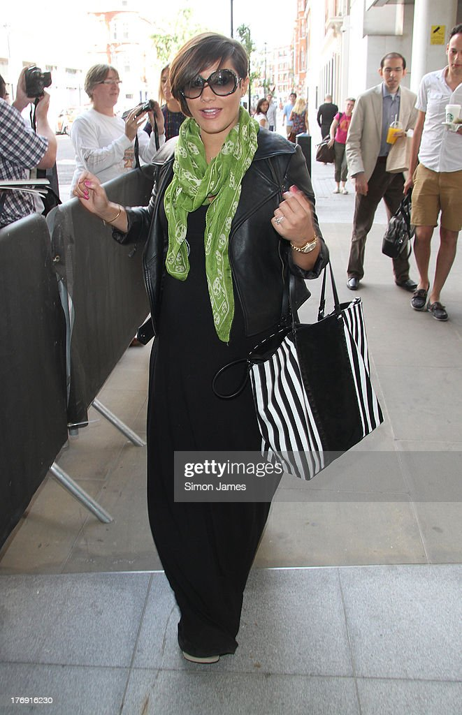 Frankie Sandford sighting at BBC Radio One on August 19, 2013 in London, England.