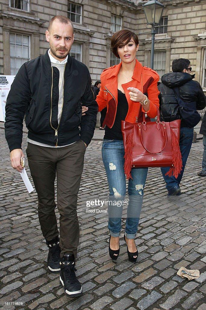 Frankie Sandford (R) sighting on February 15, 2013 in London, England.