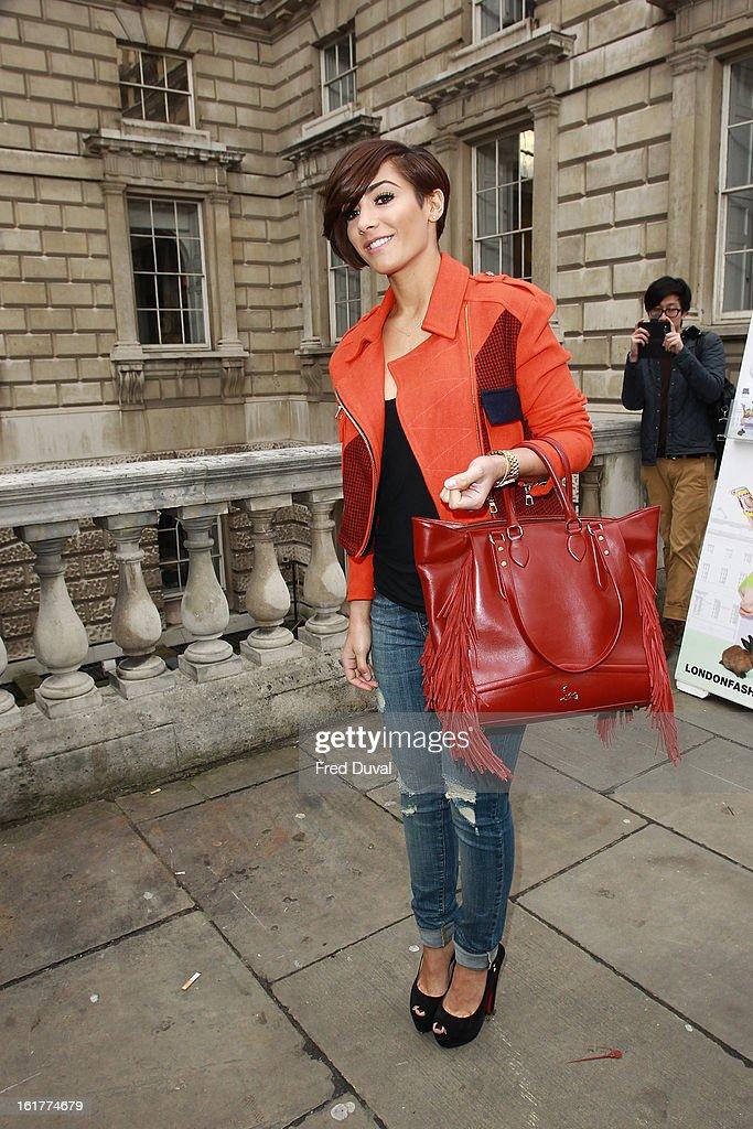 Frankie Sandford sighting on February 15, 2013 in London, England.