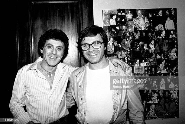 Frankie Valli and Charlie Calello during Frankie Valli Recording Session at Mediasound Studios 1977 at Mediasound Studios in New York City New York...
