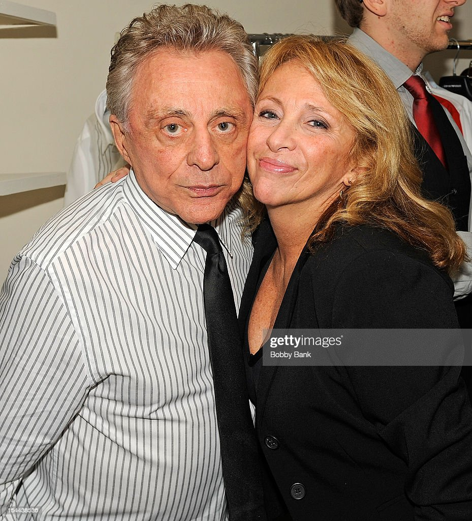 Frankie Valli and his daughter Toni Valli attends Frankie Valli And The Four Seasons 50th Anniversary Celebration at Broadway Theatre on October 19, 2012 in New York City.