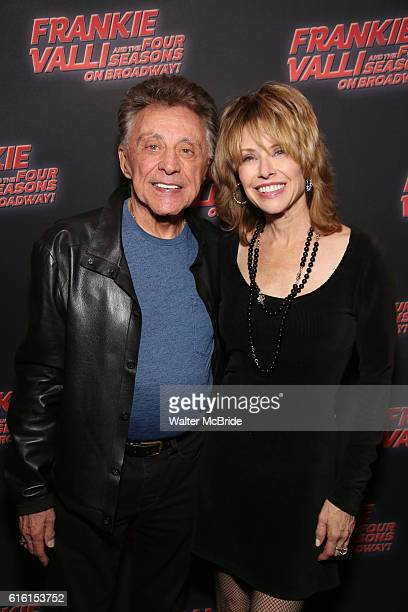 Frankie Valli and Jackie Jacobs attend a backstage reception for 'Frankie Valli And The Four Seasons' Broadway Opening Night at LuntFontanne Theatre...