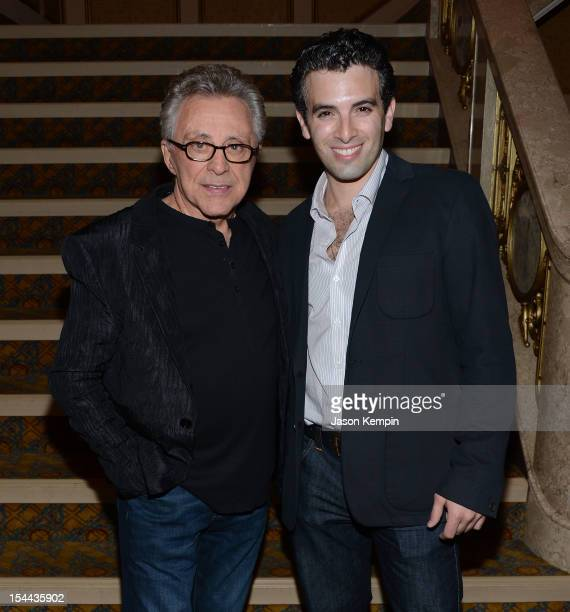 Frankie Valli and Jarrod Spector attend the Frankie Valli And The Four Seasons 50th Anniversary Celebration event at Broadway Theatre on October 19...