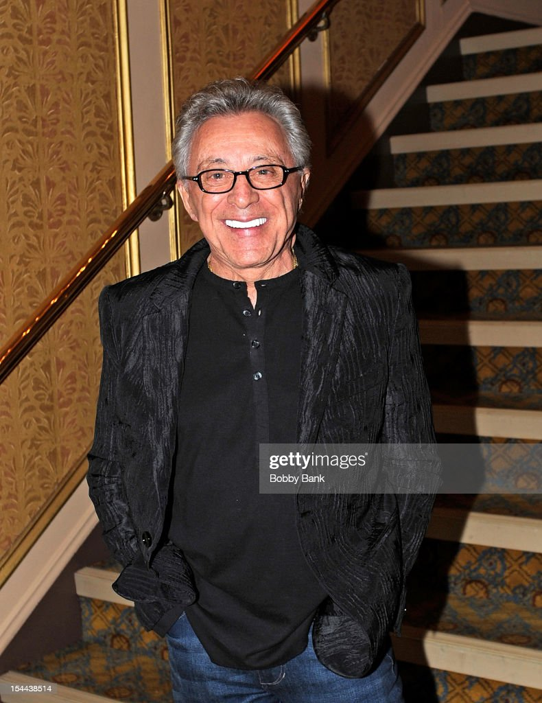 <a gi-track='captionPersonalityLinkClicked' href=/galleries/search?phrase=Frankie+Valli&family=editorial&specificpeople=585927 ng-click='$event.stopPropagation()'>Frankie Valli</a> attends <a gi-track='captionPersonalityLinkClicked' href=/galleries/search?phrase=Frankie+Valli&family=editorial&specificpeople=585927 ng-click='$event.stopPropagation()'>Frankie Valli</a> And The Four Seasons 50th Anniversary Celebration at Broadway Theatre on October 19, 2012 in New York City.
