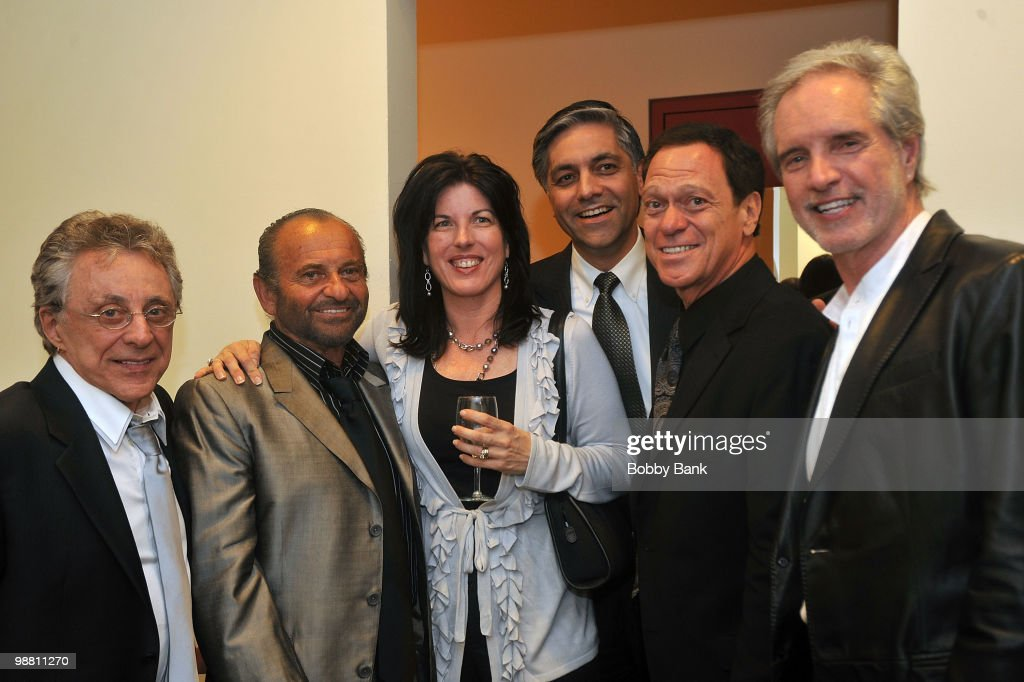 <a gi-track='captionPersonalityLinkClicked' href=/galleries/search?phrase=Frankie+Valli&family=editorial&specificpeople=585927 ng-click='$event.stopPropagation()'>Frankie Valli</a>, <a gi-track='captionPersonalityLinkClicked' href=/galleries/search?phrase=Joe+Pesci&family=editorial&specificpeople=213898 ng-click='$event.stopPropagation()'>Joe Pesci</a>, Danielle Gaudio Lalehzar, Sal Lalehzar, <a gi-track='captionPersonalityLinkClicked' href=/galleries/search?phrase=Joe+Piscopo&family=editorial&specificpeople=228495 ng-click='$event.stopPropagation()'>Joe Piscopo</a> and <a gi-track='captionPersonalityLinkClicked' href=/galleries/search?phrase=Bob+Gaudio&family=editorial&specificpeople=746103 ng-click='$event.stopPropagation()'>Bob Gaudio</a> pose backstage at the 3rd Annual New Jersey Hall of Fame Induction Ceremony at the New Jersey Performing Arts Center on May 2, 2010 in Newark, New Jersey.