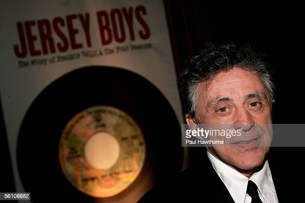 Frankie Valli of Frankie Valli and the Four Seasons attends the play opening night of 'Jersey Boys' after party at the Marriott Marquis November 6...