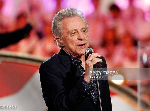 Frankie Valli performs at PBS's 2014 A CAPITOL FOURTH at US Capitol West Lawn on July 4 2014 in Washington DC