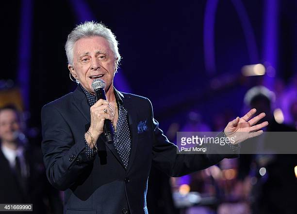 Frankie Valli performs at PBS's 2014 A CAPITOL FOURTH rehearsals at US Capitol West Lawn on July 3 2014 in Washington DC