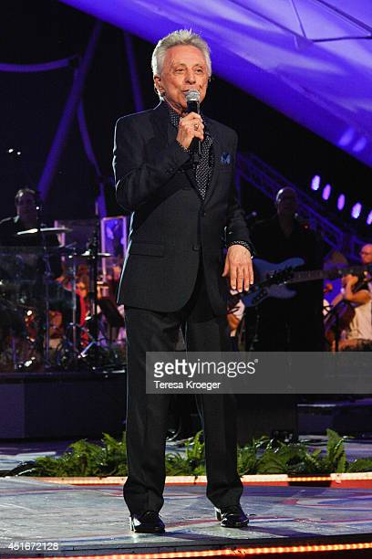 Frankie Valli performs during PBS's '2014 A Capitol Fourth' Concert Rehearsal at the US Capitol West Lawn on July 3 2014 in Washington DC