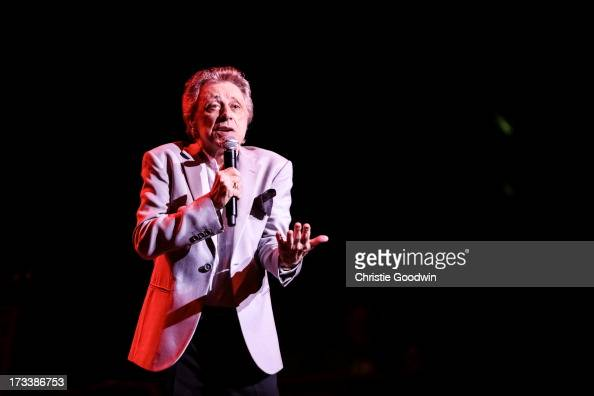 LONDON UNITED KINGDOM JUNE 26 Frankie Valli The Four Seasons perform on stage at the Royal Albert Hall on June 26 2013 in London England