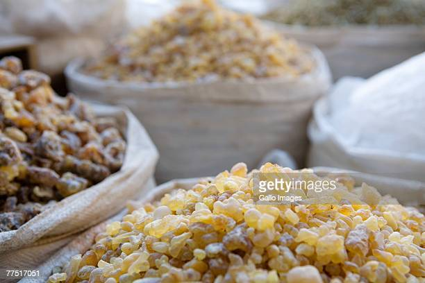 Frankincense and other spices from spice souq, Deira, United Arab Emirates