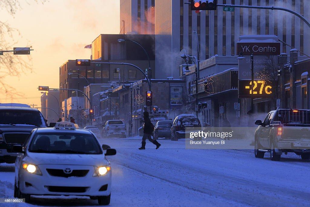 Franklin Avenue in winter