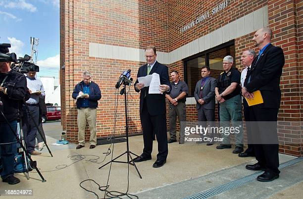 Franklin County attorney Stephen Hunting speaks at a news conference on Friday May 10 after prosecutors said Kyle Flack of Ottawa Kansas faces...